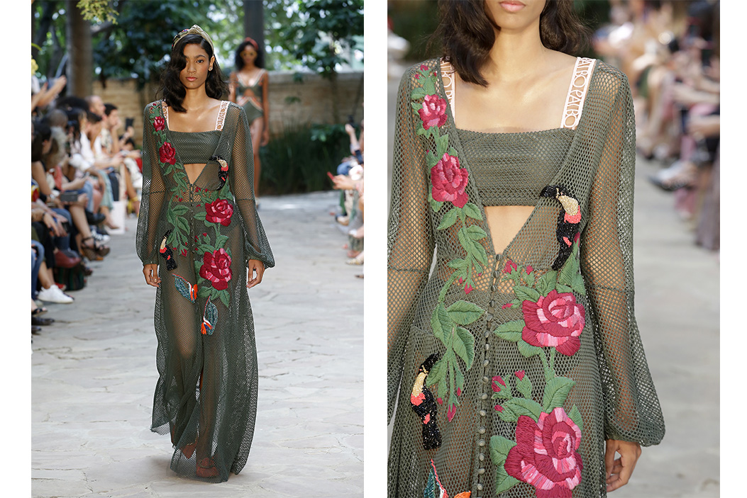 alta costura tendências de moda praia 2020